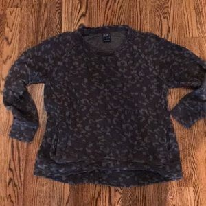 Gap sweatshirt cheetah print size small